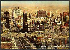 "1906 SAN FRANCISCO EARTHQUAKE & FIRE ""RUINS of the CITY"" NEW 1983 MINT POSTCARD"