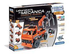 Clementoni 55250. ciencia y juego. laboratorio de Mecánica. camiones transporte