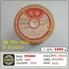 PESHO coil wire, natural silk, diameter - 0,140 mm, USSR, 1COIL = 1000g !