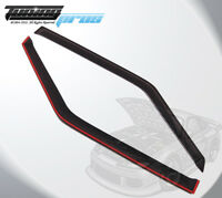 Dark Smoke Rain Visor Deflector 2pcs Out-Channel For Ford Mustang 1988-1993