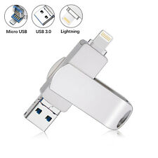 USB 3.0 Flash Drive 32GB Lightning Storage Memory Stick Dual iOS iPad For iPhone