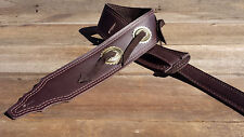 The 3 inch Brown Weave-Lok Concho Guitar Strap
