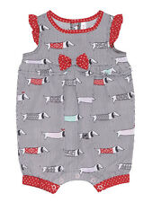 Deux Par Deux Doxie Love Bay Girls One Piece Romper Sleeveless Back Buttons