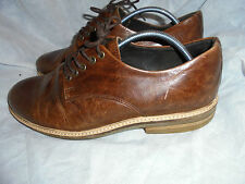 ASK THE MISSUS MEN'S BROWN LEATHER LACE UP SHOES SIZE UK 10 EU 44  VGC