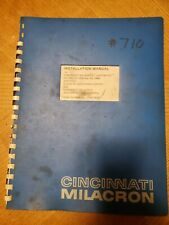 Cincinnati Milacron Installation Manual for Cintimatic vertical 2 axis NC Machin