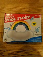 "Pool Float RAINBOW Cloud Jumbo Sized 57""x 46""x 21""  NEW"
