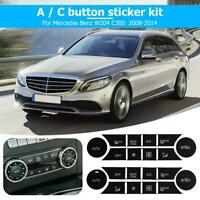 A/C Button Stickers Kit DashRepair Decal Replacement L+R for W204 C300 2008-2014