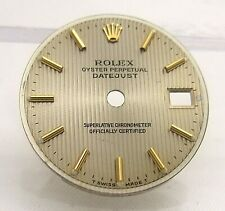 Ladies Rolex 18k Champagne Tuxedo President Datejust Watch Dial Face 6917