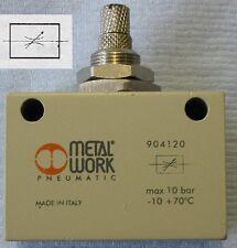 Válvula de aguja de control de flujo Bi Direccional 1/2 BSPP Aire Neumático