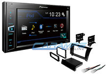 NEW PIONEER STEREO RADIO W DIGITAL MEDIA & BLUETOOTH W GLOSS BLACK INSTALL KIT