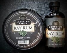 Captain's Choice Bay Rum Shaving Soap and Aftershave Set