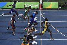 "056 Usain Bolt - 100 m Running Jamaica Game Champion Olympic 21""x14"" Poster"