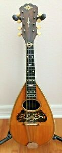 VINTAGE BAY STATE 8 STRINGS PEARL INLAY BOWL BACK MANDOLIN. SOUNDS GREAT