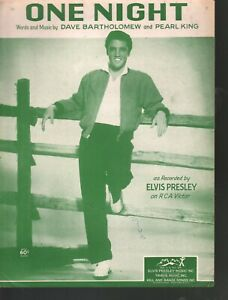 One Night 1957 Elvis Presley Sheet Music