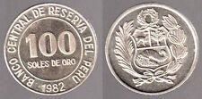 PERU' 100 SOLES DE ORO  1982   Fdc / F.L.  #721