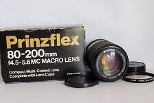 PRINZFLEX 80-200 MM 1:4.5-5.6 MACRO FOCUSING ZOOM LENS PENTAX PK FIT BOXED(USED)