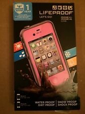 Lifeproof Waterproof Protective Tough Case Cover For iPhone 4/ 4S - Pink