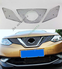 For Nissan Qashqai 2015-17 3x Metal Front Bumper Mesh Grille k Grill Vent Hole