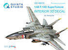 Quinta QD48070 F-14D 3D-Printed coloured Interior on decal paper for Tamiya kit