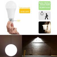 E27 Radar Sensor Ambient PIR Motion 12W LED Globe Bulb Light Lamp Practical