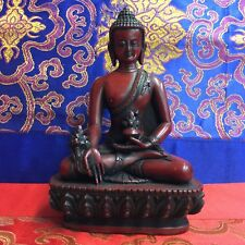 MEDICINE BUDDHA Tibetan Statue from Nepal Resin 5.25 Inch LIMITED EDITIION!