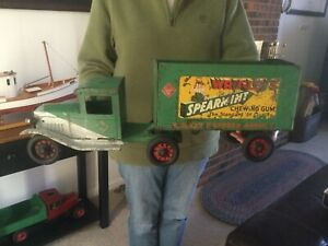 Antique Buddy L Pressed Steel Wrigley's Spearmint Gum Truck 1930's