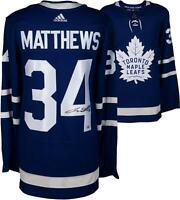 Auston Matthews Maple Leafs Autographed Blue Adidas Authentic Jersey - Fanatics