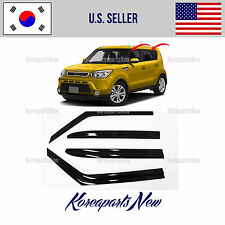 SMOKED DOOR WINDOW VENT VISOR DEFLECTOR (A174) KIA SOUL 2014 2015 2016 2017