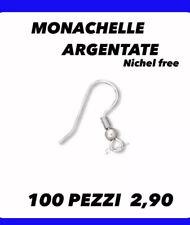 Monachelle Argentate Nickel Free Orecchini