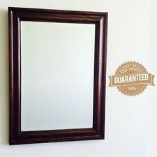 Unbranded Wooden Frame Decorative Mirrors with Bevelled