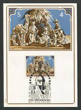 AUSTRIA MK 1981 WEIHNACHTEN CHRISTMAS NAVIDAD CARTE MAXIMUM CARD MC CM d7477