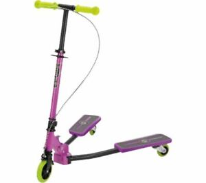 Xootz Pulse Scooter Purple Kids Boys Girls Toy Foldable Wiggle Scooter Ride On