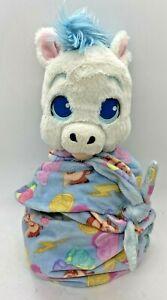 "Disney Parks Babies Pegasus Hercules Baby Plush Blanket Pouch Blankie 10"" Wrap"