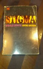 Vintage 1st Edition 1963 Stigma: Notes On The Management...by Goffman, Erving PB