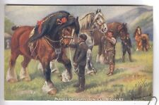 CPA  ANIMAL FANTAISIE -  CHEVAL HORSE CLYDESDALE PARADE DES CHAMPIONS 1920  ~C47