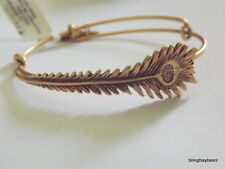 Alex and Ani PEACOCK FEATHER Wrap NWT Bangle BOX Vintage 66 R Gold Bracelet