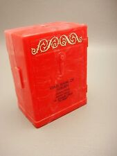 Vintage Swirl Plastic Safe Style State Bank Of Auburn Promotional Coin Bank