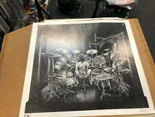 Neil Peart Collectable 19x21 drawing from behind