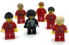 LEGO 5 SOCCER PLAYERS TEAM SPORTS MINIFIGURES WITH GOALIE FIGURES