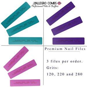 Allegro Combs Professional Nail Files Hard Shell Soft Sponge Nail Filer. Cushion