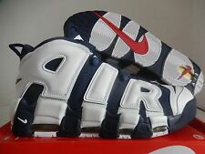 "NIKE AIR MORE UPTEMPO ""OLYMPIC USA"" NAVY BLUE-WHITE-RED SZ 13 [414962-401]"