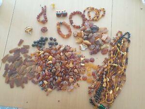 Konvolut Bernstein Schmuck 660 Gramm Bastel Armband Amber Necklace Butterscotch