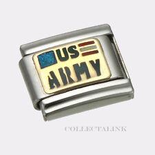 Original Clessidra Italy Nomination 18k US Army Charm