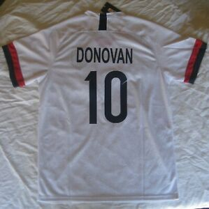 Landon Donovan #10 USA Soccer US Soccer White Size Large