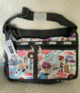 NWT LeSportSac Deluxe Everyday Crossbody bag in Art School pattern SO CUTE