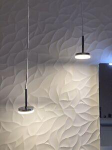 2 dansani Jupiter Pendant Lamps LED Lights Chrome