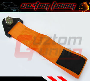 FOR SUBARU IMPREZA WRX STI JDM ORANGE DRIFT TRACK OFFROAD RACING TOW STRAP SOLID