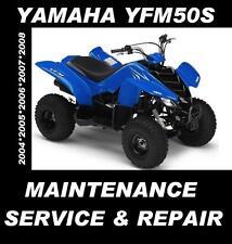 Yamaha YFM50 S Service Manual YFM50 YFM 50 ATV Quad Maintenance Repair Rebuild