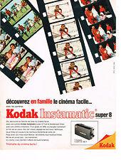 PUBLICITE  1967   KODAK  INSTAMATIC  super 8  caméra
