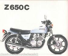 KAWASAKI Z650C Z650C1 KZ650C KZ650C1 RESTORATION DECAL SET 1978